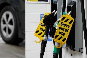 """Seit über einer Woche herrschen Engpässe an vielen britischen Tankstellen. Soldaten sollen """"temporär"""" unterstützen.Foto: AFP"""